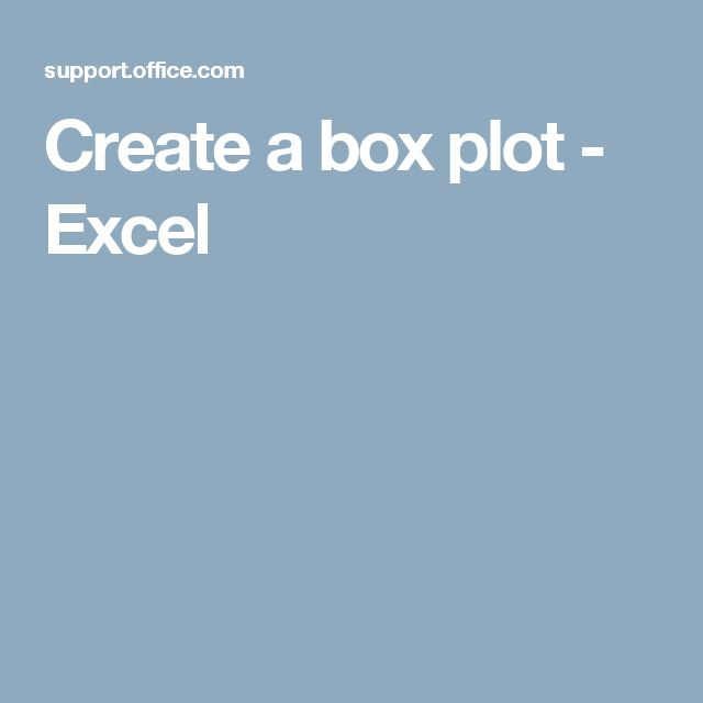how to make box plots on excel