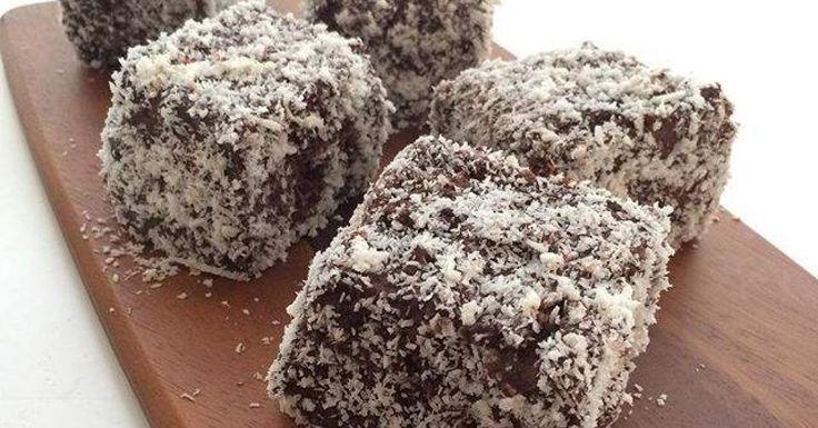 Fluffy Chocolate Ganache Lamingtons