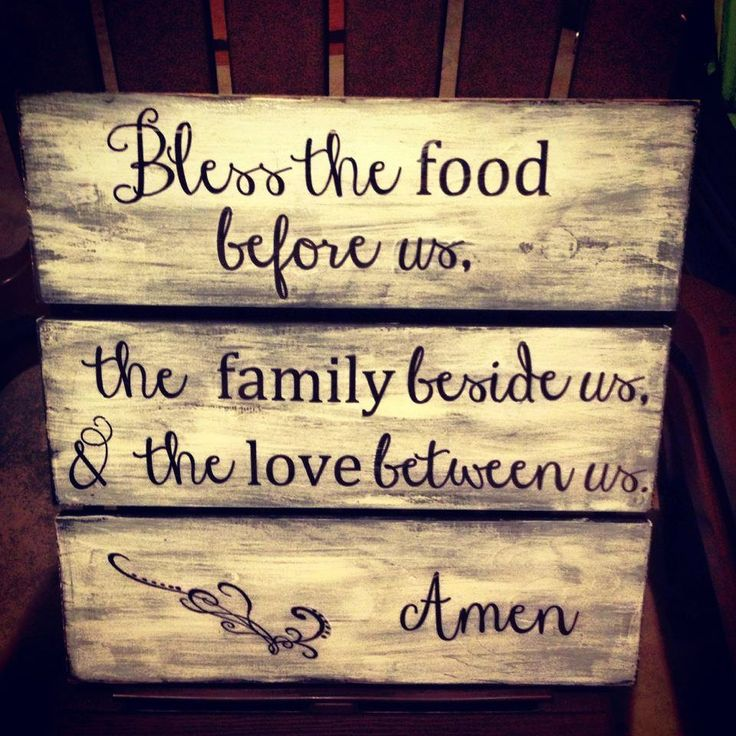 Love to make something with this quote for our dining room.