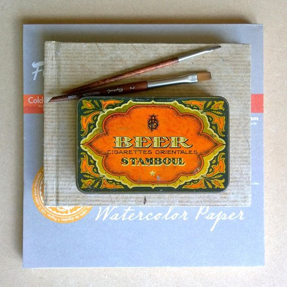 Vintage Tin Watercolour Travel Palette Beer Stamboul Magnetic