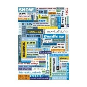 Making Memories Word Fetti Stickers - Holidays & Winter