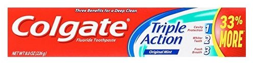 Colgate Triple Action Toothpaste 6 Pack $10.44 (Only $1.74 Each Shipped) - http://www.swaggrabber.com/?p=317075