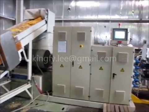 Used PP woven bag plastic pellet machine