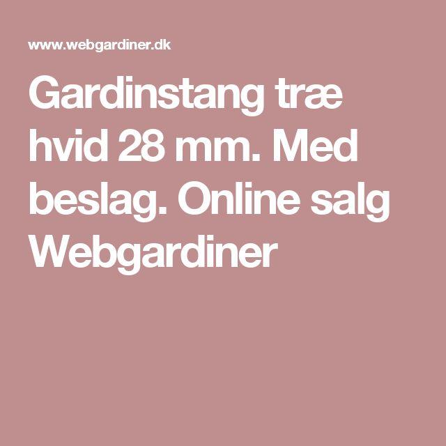 Gardinstang træ hvid 28 mm. Med beslag. Online salg Webgardiner