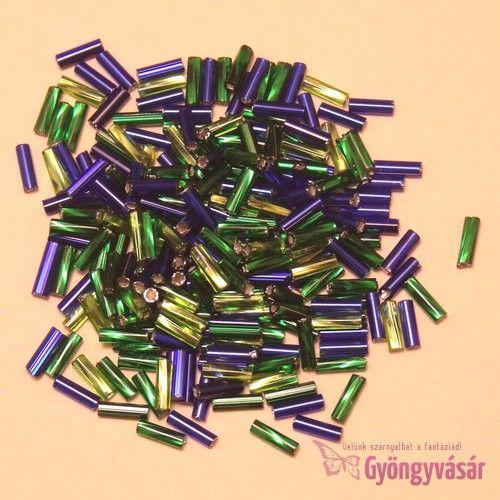 Zöld-kék, 7 mm-es cseh szalmagyöngy (10 g) • Gyöngyvásár.hu