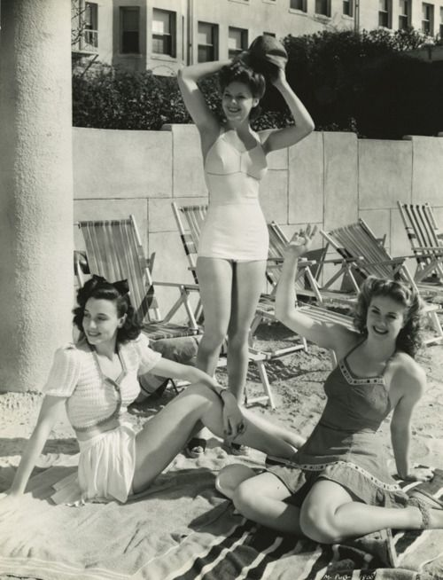 Frances Neal, Renee Haal, and Sally Wadsworth 1930's.