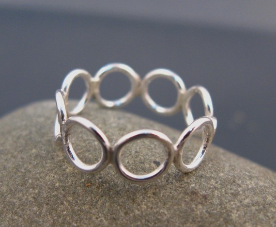 Bubble jewelry Sterling silver ring