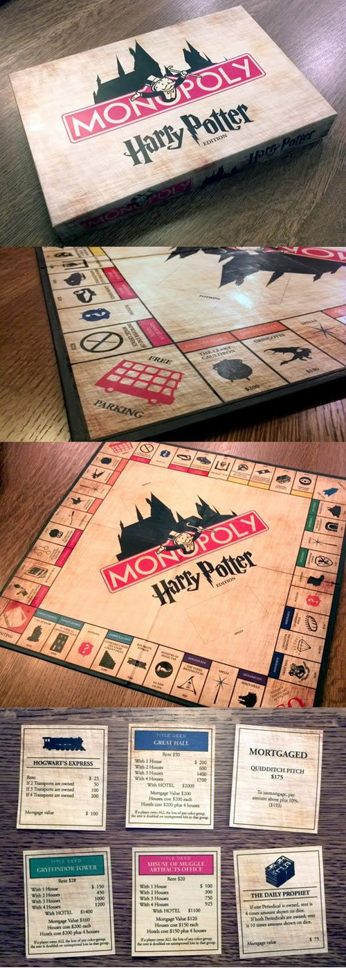Harry Potter Monopoly.   Omg I need this!