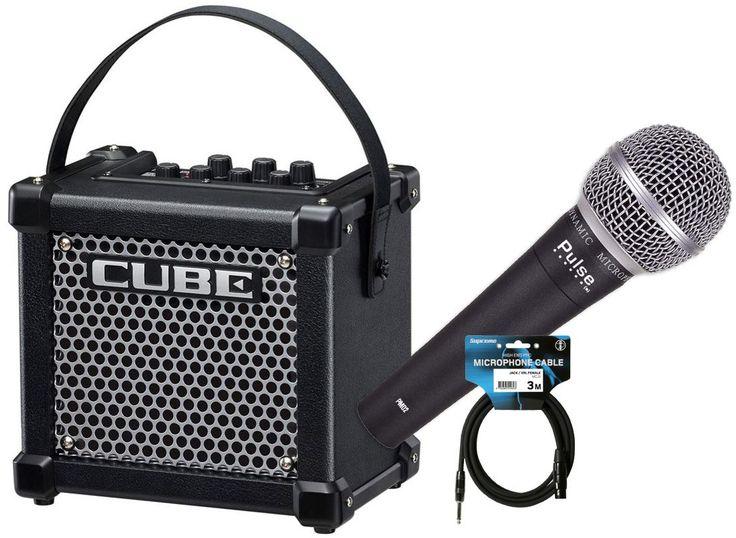 Komplett sångpaket med mikrofon, mikrofonkabel och högtalare/förstärkare. Lätt, användarvänlig och lämplig för både barn och vuxna.