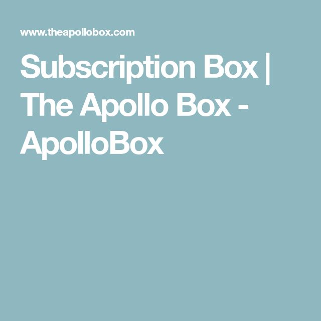 Subscription Box | The Apollo Box - ApolloBox