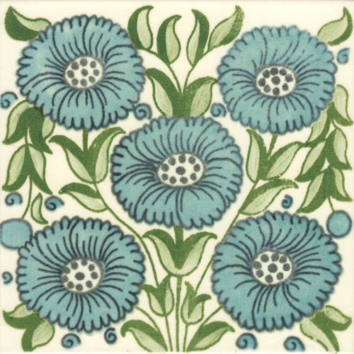 William De Morgan Victorian Tiles for Fireplaces and Walls from Victorian Ceramics