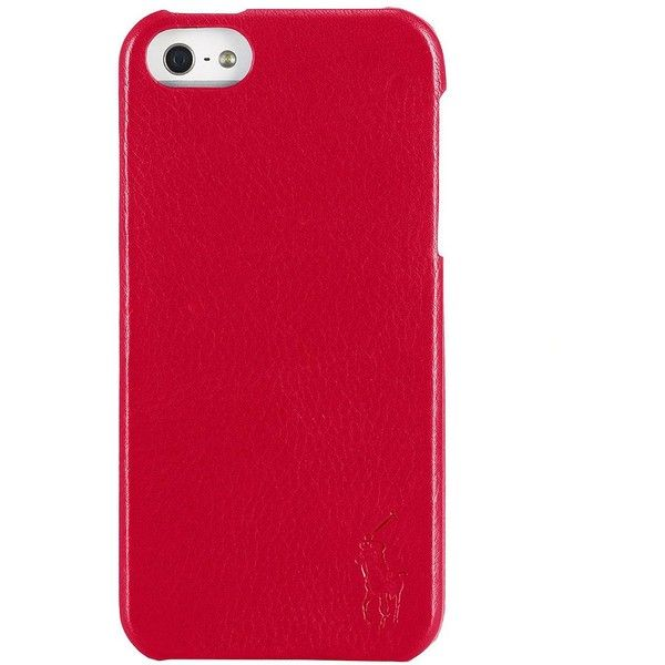 Polo Ralph Lauren Pebbled Leather Hard iPhone Case ($12) ❤ liked on Polyvore featuring men's fashion, men's accessories, men's tech accessories and red