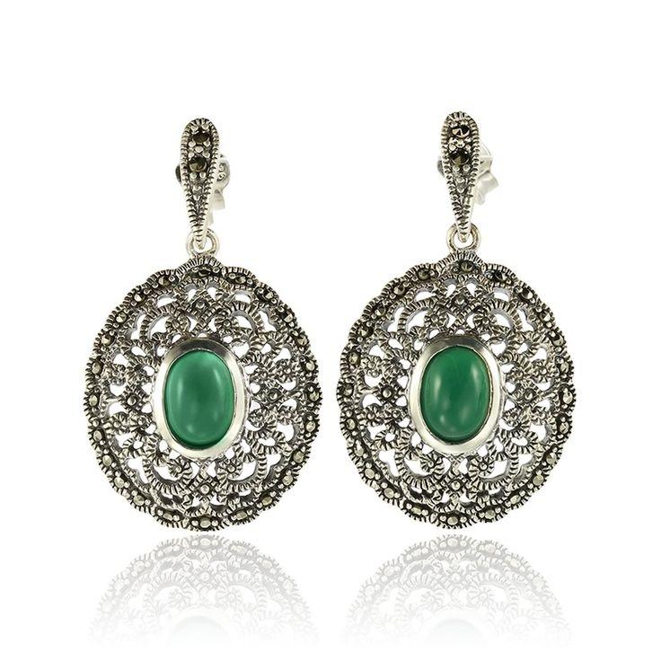 Cercei argint Surub Drop Earr Agat+Marcasite Cod TRSE040 Check more at https://www.corelle.ro/produse/bijuterii/cercei-argint/cercei-lungi/cercei-argint-surub-drop-earr-agatmarcasite-cod-trse040/