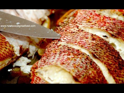 Jamaican Food - Oven Baked Red Snapper Recipe Whole Fish Allspice Scotch Bonnet - YouTube
