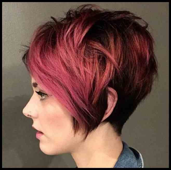 Einfache Freche Kurzhaarfrisuren Rot Aktuelle Frisuren