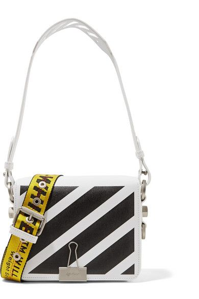 Off-White's textured-leather shoulder bag reflects Virgil Abloh's passion for art and architecture - it's inspired by Daniel Buren's black and white striped column instalment at Paris' Palais-Royal. It has two different shoulder straps, including the signature industrial yellow tape, and opens to reveal space for your cell phone, wallet and a slim camera.