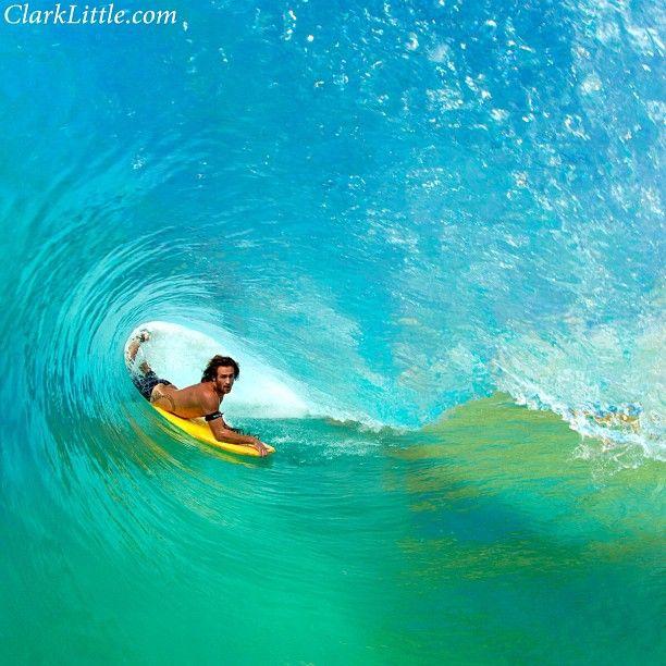 Jesse king in the pit @Maile B. King #notnorthshore #hawaii #westside #clarklittle Nikon d3 #bodyboard