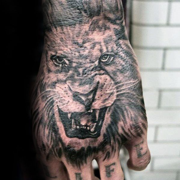 40 Lion Hand Tattoo Designs for Men – Noble Ink Ideas #designs #Hand #ideas #in …