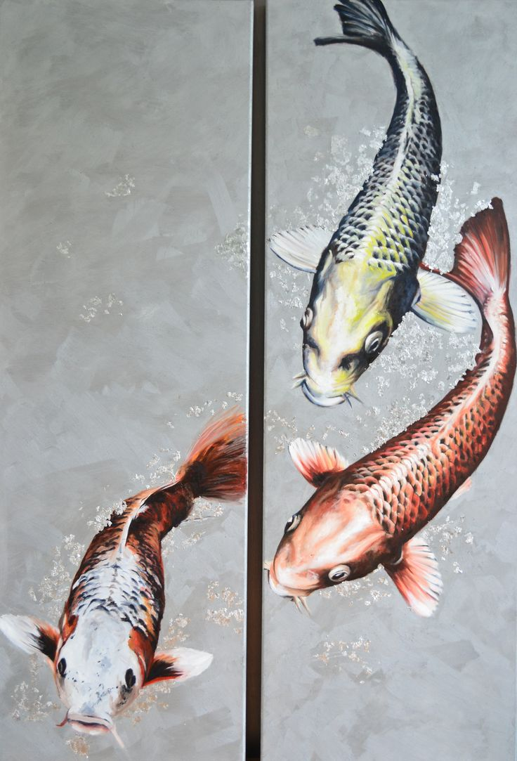 #vissen #koi #olieverf #canvas #art #artwork #fish