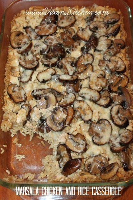 Marsala Chicken and Rice Casserole - Vixen's Kitchen
