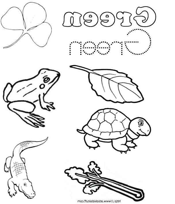 Green Coloring Pages Nocl Green Color Word Worksheet Education