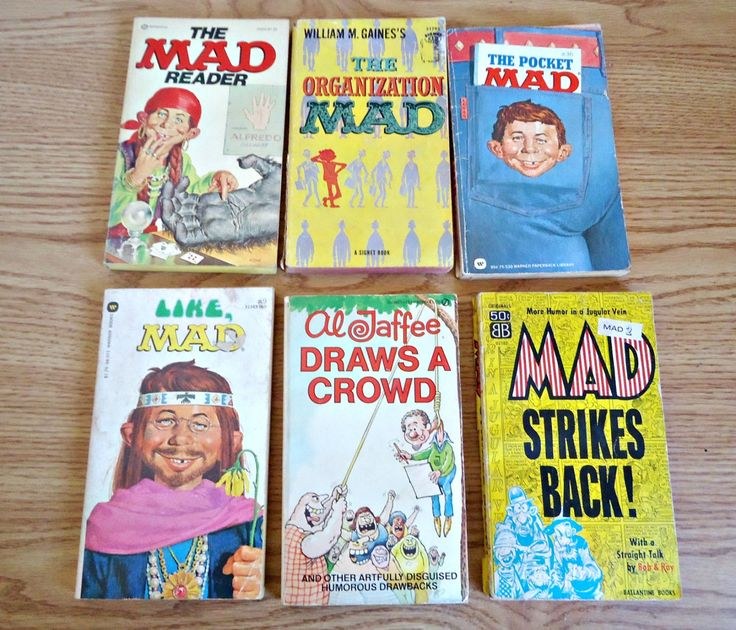 5 Vintage Mad Magazine Comic Paperback Books & 1 Al Jaffe by TreasureCoveAlly on Etsy