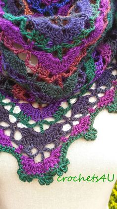 Crochets4U: South Bay sjaal, gatis patroon, Nederlands, omslagdoek