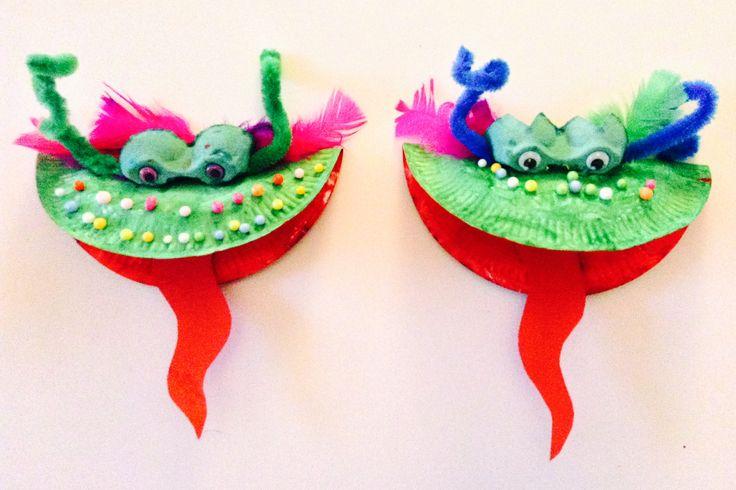 """Dragon Craft for Chinese New Year"" - enjoy! #ChineseNewYear #craft #toddler"