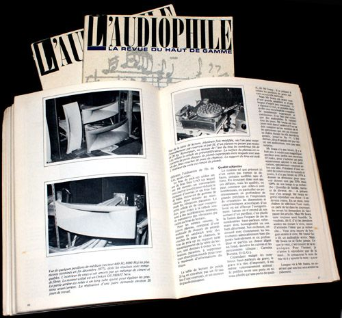 French Audiophile Magazine describing horns and turntable of Mr. Iwata.