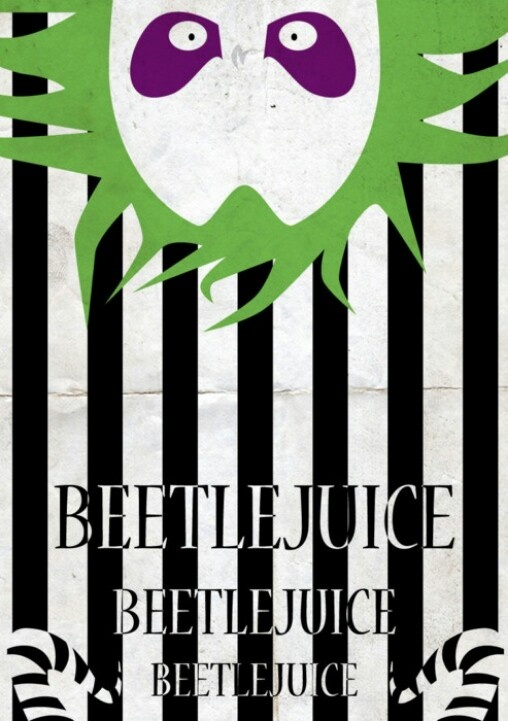 My whole house is in b&w stripes because I'm obsessed with Beetlejuice since I was a little kid. And it's so nice when someone comes to my house and immediately say Beetlejuice. Lol