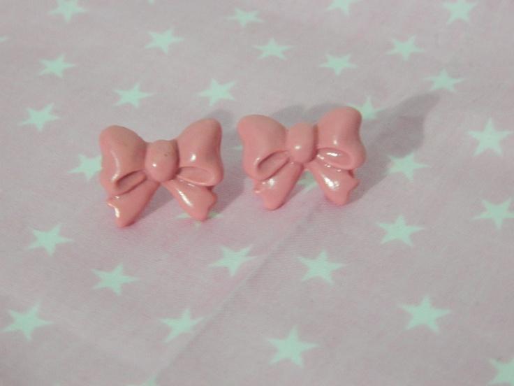Kawaii Pink Bow EarringsLuv Bows, Etsy, Kawaii Pink, Kawaii Accessories, Pink Bows, Bows Earrings, Bow Earrings, 5 00, Awesome Stuff