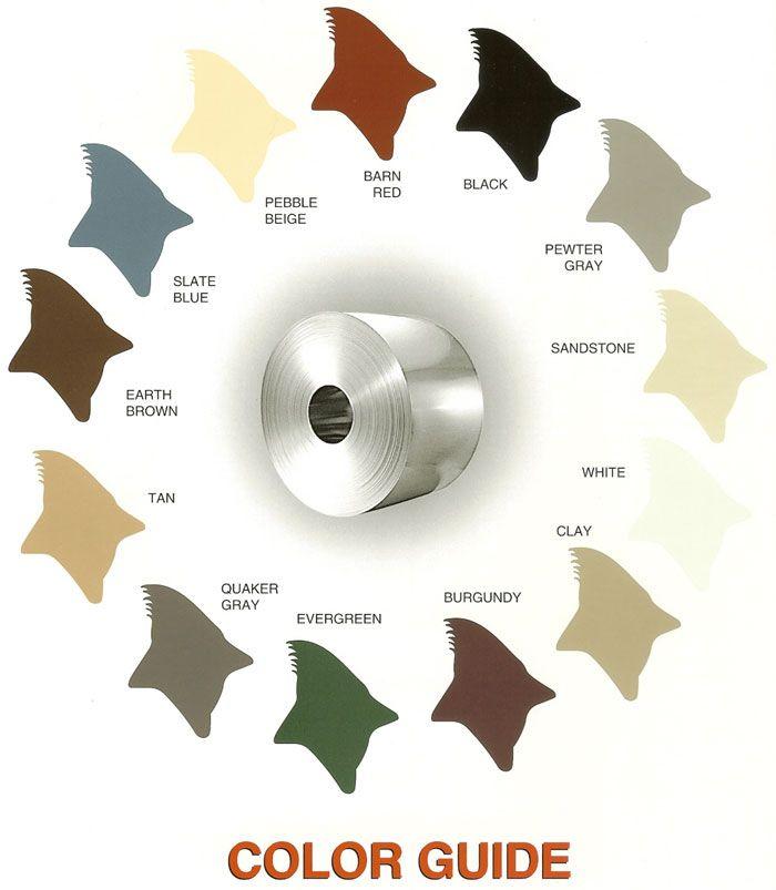metal carport color chart