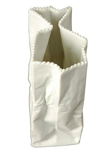 Vintage Rosenthal Tapio Wirkkala Porcelain Paper Bag Vase