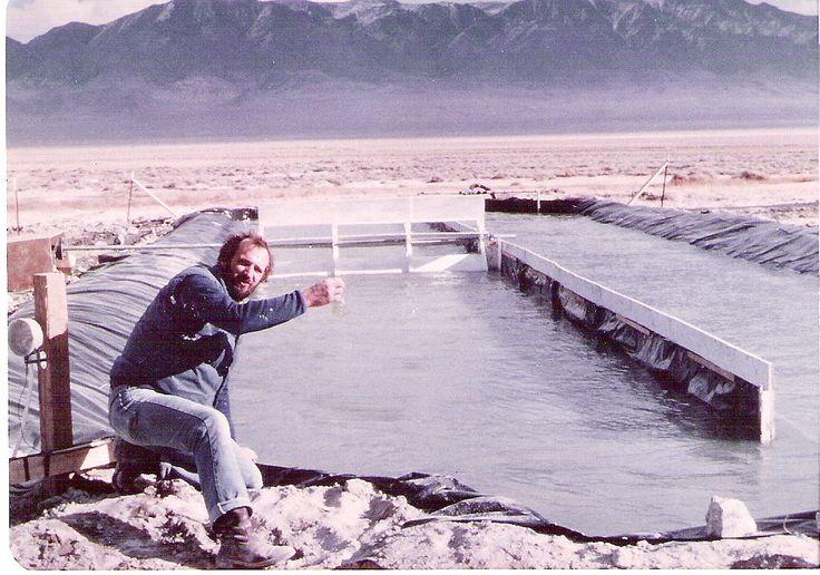 Dr. Cysewski with a spirulina pond in Nevada | Nutrex Hawaii