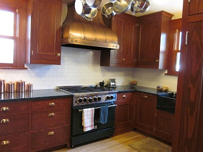 our craftsman style kitchen remodel douglas fir cabinets to match rest of woodwork in house