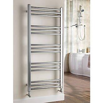 Kudox Timeless Designer Towel Radiator Chrome 1100 x 500mm 911Btu | Timeless | Screwfix.com