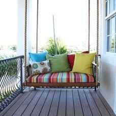Mediterranean Porch by Mina Brinkey swing daybed balcony