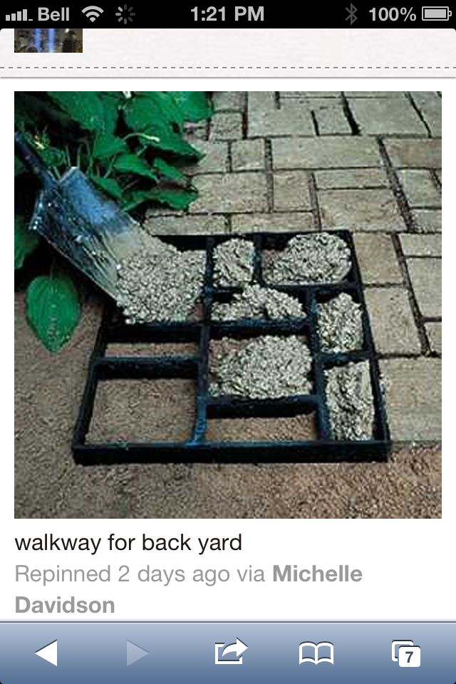 Making your own patio stones
