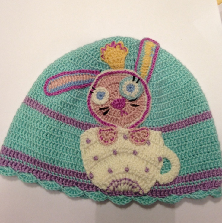 Bunny in the Tea Cup Hat for my little girl