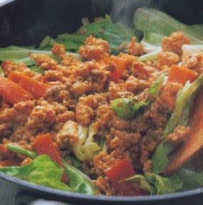Lettuce Tumis Ayam Udang