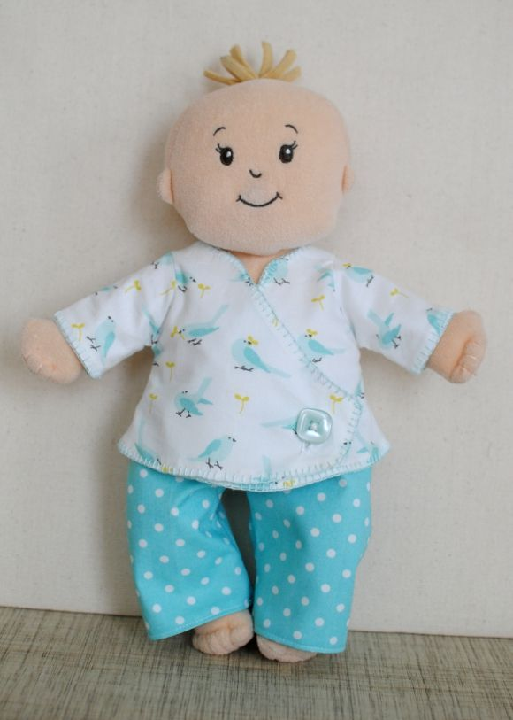 Most of the baby sewing I've done so far has actually been for Norah's Baby Stella doll! This pattern is from Twinflower Designs {just like the dresses I made in the past} and was pretty easy to p...