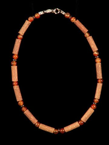 Teething Hazelwood Necklace with Carnelian beads