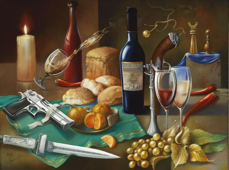 """2011 year. """"Still life with the Weapons""""  Oleg Osipoff Official Site: http://osipoff-art.com/"""
