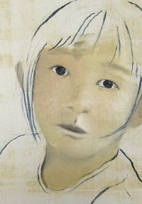 Wiebke Müller, Children after Fukushima (detail) - oil on canvas