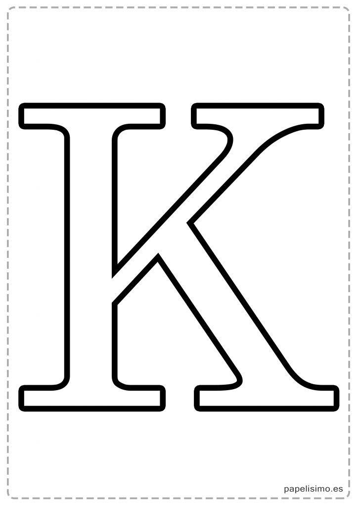 K Abecedario Letras Grandes Imprimir Mayusculas