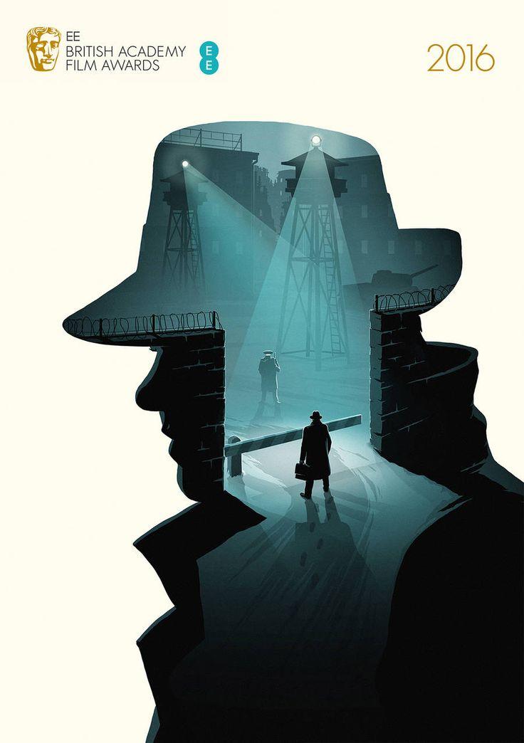 Illustrated Posters of BAFTA 2016's Best Movies - Bridge Of Spies