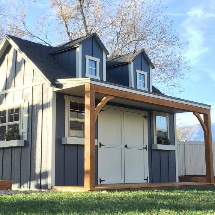 Best 25 custom sheds ideas on pinterest diy 12x16 for Detached garage utah