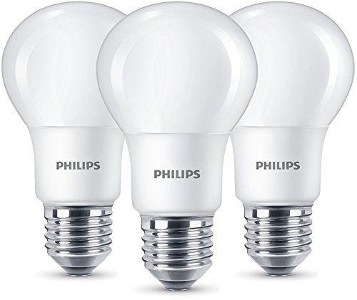 Doppelt sparen! Zuerst bei den Lampen und dann bei den Stromkosten. Bei amazon sind gerade die Philips LED Lampen im 3er Pack für 6,99€ im Angebot!  #Amazon #Beleuchtung #Elektronik #Haushalt #Lampe #LED #Philips