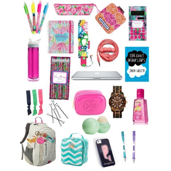 """back to school- book bag edition!"" by ceahannahgrace on Polyvore  I need a camel back water bottle for school/volleyball"