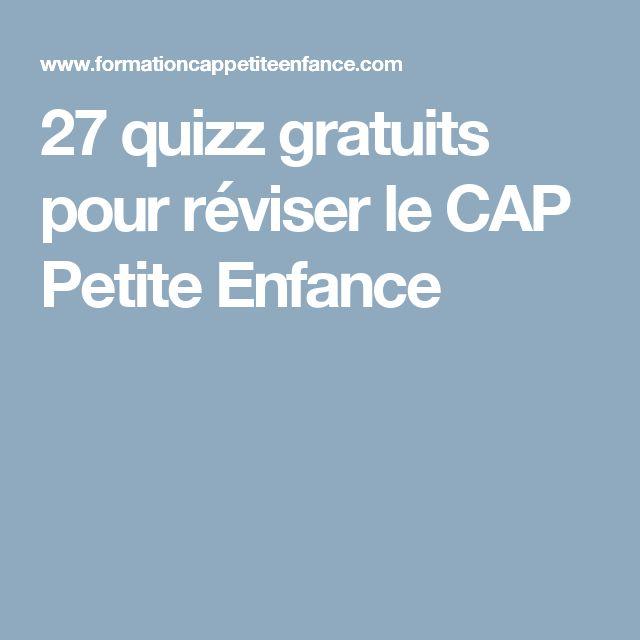 27 quizz gratuits pour réviser le CAP Petite Enfance